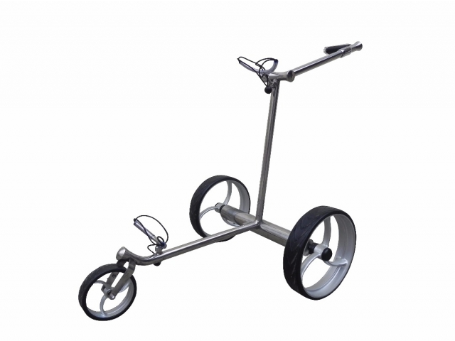Design Golf Trolley «Silver Straight Remote»